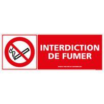 Dimensions 150 x 210 mm Protection Anti-UV Panneau Interdiction de Fumer et de Vapoter Plastique Rigide PVC 1,5 mm Double Face Autocollant Au Dos