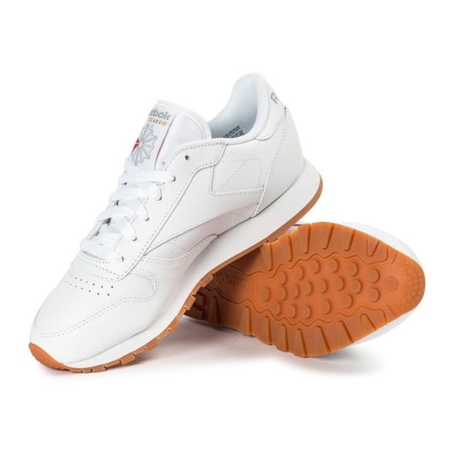 Reebok Classic Leather W Gum Blanche pas cher Achat