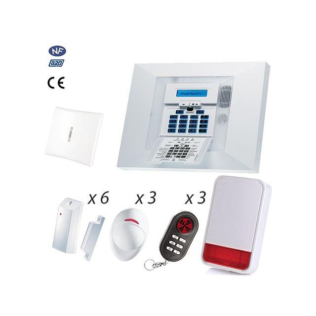 visonic alarme maison gsm powermax pro nfa2p kit 14 pas cher achat vente alarme. Black Bedroom Furniture Sets. Home Design Ideas