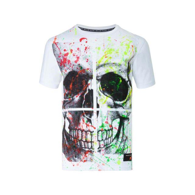 T shirt \'hard\' Blanc