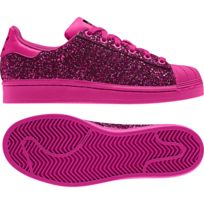 adidas superstar femme paillette rose