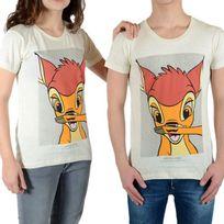 Little Eleven Paris - Tee Shirt Bambi Ss Mottled Mixte Garçon / Fille, Bambi Blanc