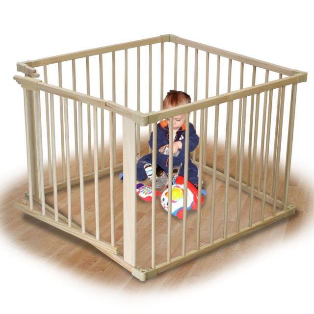 monsieur bebe barri re de s curit et parc b b 4 c t s. Black Bedroom Furniture Sets. Home Design Ideas