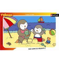 Nathan - Puzzle cadre - 15 pièces - T'Choupi : T'Choupi à la plage