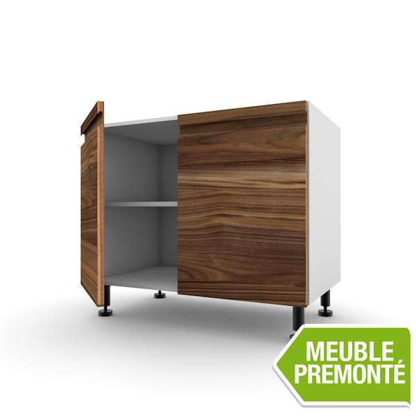 meuble bas 80cm 2 portes 70x40 contemporaine pandora