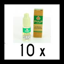 Pulp - Lot 10 e-liquides Menthe Chlorophylle 12mg soit 4,90 euros le flacon 10ml