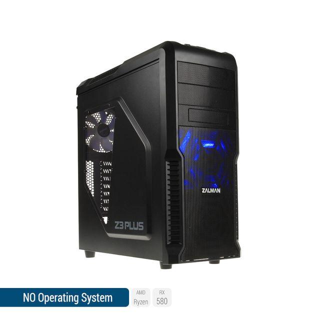 SEDATECH PC Gamer, AMD Ryzen 3, RX 580, 500 Go SSD, 2 To HDD, 16Go RAM, sans OS. Ref: UCM6110I4
