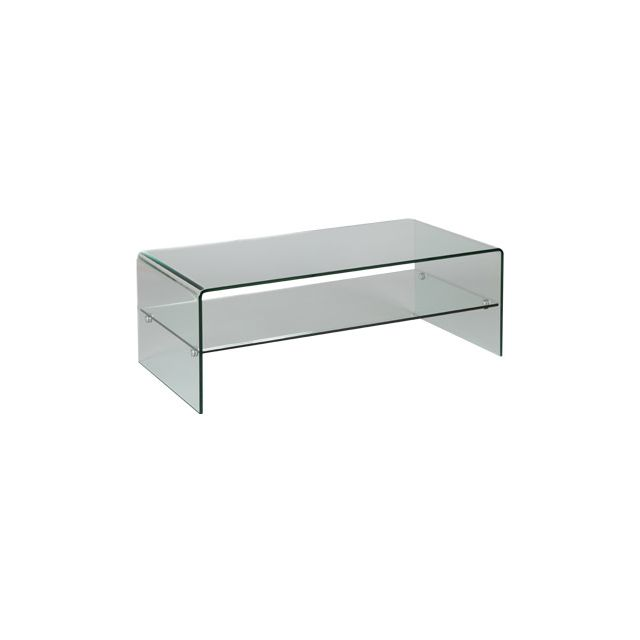 Table basse rectangulaire 120x60x43cm Glass