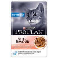 Purina - Pochon Pro Plan Chat Adulte Nutrisavour Housecat au Saumon - 85 g