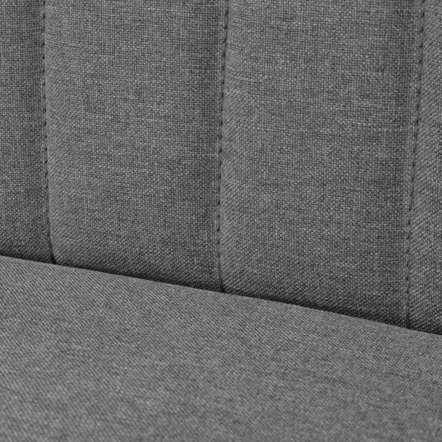 Icaverne - Canapés ligne Canapé 117 x 55,5 x 77 cm Tissu Gris clair