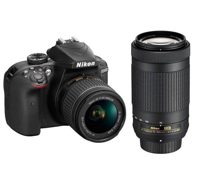 NIKON - appareil photo reflex - d3400 18-55 70-300