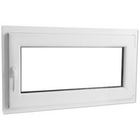 Rocambolesk - Superbe Fenêtre oscillo-battante en Pvc avec poignée à gauche 1 000 x 600 mm Neuf