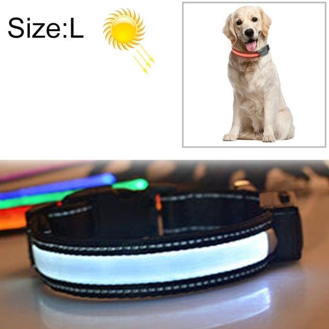 Wewoo Collier de lumière Led de charge pour animal de compagnie solaire de taille moyenne et grand pour animaux de compagnie,