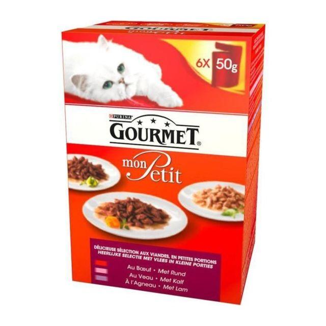 Gourmet Mon Petit repas pour chat adulte poisson 6 x 50 g