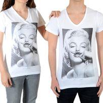 Little Eleven Paris - Tee Shirt Marilyn Ss Mixte Garçon / Fille, Marilyn Monroe Blanc