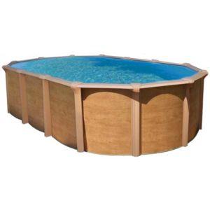 Abak piscine acier osmose hors sol aspect bois 5 15 x 3 - Piscine hors sol acier pas cher ...
