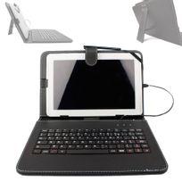 Duragadget - Etui noir + clavier Azerty français pour tablette 10.1 pouces