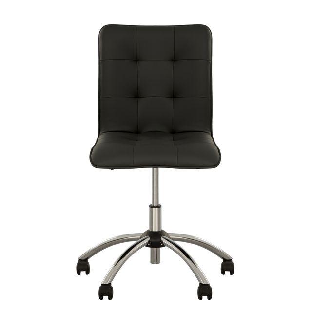 Malta Chaise De Bureau Design Sans Accoudoirs Fauteuil De Bureau Capitonne Noir