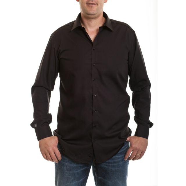 Venti Chemise noir manches extra longues