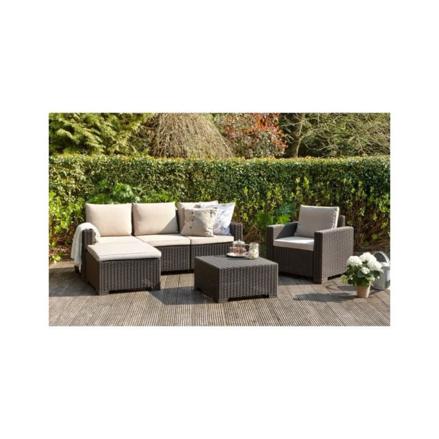 Allibert jardin - Moorea salon de jardin 4 pieces aspect rotin - pas ...