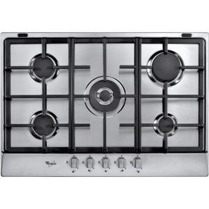 whirlpool plaque de cuisson gaz 5 feux 73 cm akr3580ix. Black Bedroom Furniture Sets. Home Design Ideas