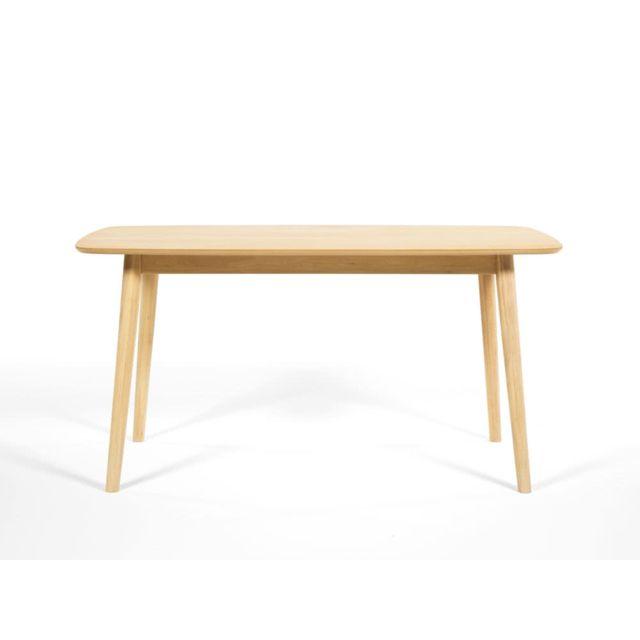 Axe Design Table à Manger En Bois Massif Longueur 150cm Nagano