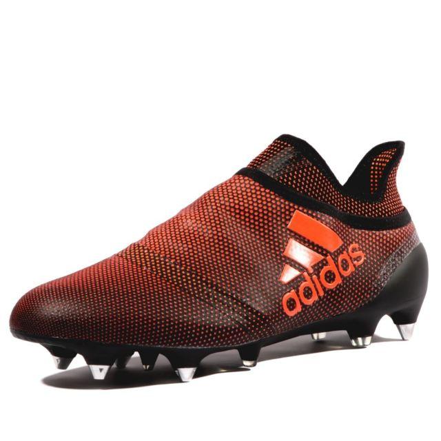X 17+ Purespeed SG Homme Chaussures Football Noir Rouge Noir 42 2/3