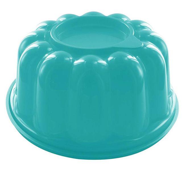 Touslescadeaux Moule à Entremet Charlotte Génoise - Grande Capacité 1,5 litres - Turquoise