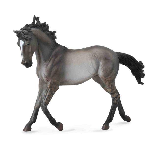 Figurines Collecta Figurine Cheval : Jument Mustang gris souris