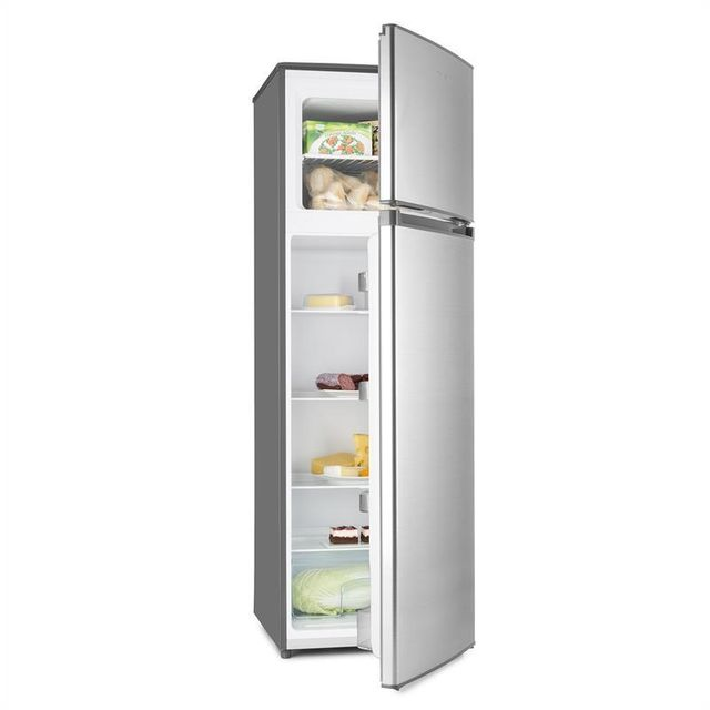 KLARSTEIN Height Cool Silver Combiné réfrigérateur congélateur 199/53l Classe A
