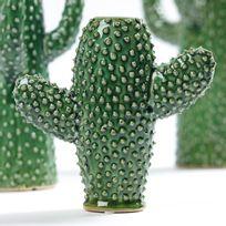 Serax - Vase forme cactus vert en porcelaine Kakto