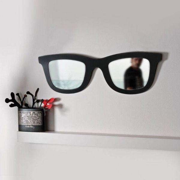 Totalcadeau - Lunettes miroir et ou cadre-photo lunettes de soleil blanc 50cm x 17cm