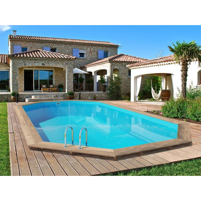 habitat et jardin piscine bois palma x x m pas cher achat vente piscines. Black Bedroom Furniture Sets. Home Design Ideas