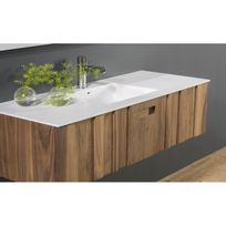 meuble salle bain sous vasque bois massif 100 cm plan vasque solid surface Résultat Supérieur 15 Meilleur De Meuble Vasque Salle De Bain Pic 2017 Uqw1