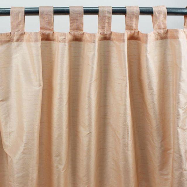 mon beau tapis rideau pattes solene 140x250cm peche soie polyester pas cher achat. Black Bedroom Furniture Sets. Home Design Ideas