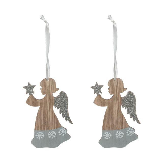 Sujet de no/ël en Verre avec Ange Plume Souvenirs de no/ël FEERIC CHRISTMAS