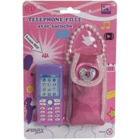 Sans Marque - Jouet Téléphone Fille Avec Sacoche Modèle Aléatoire