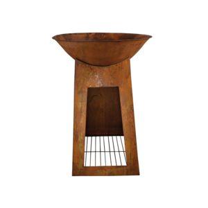 esschert design chemin e d 39 ext rieur vasque stockage bois grand mod le pas cher achat. Black Bedroom Furniture Sets. Home Design Ideas