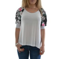 Guess jeans - Tee shirt helda knit top blanc Xs