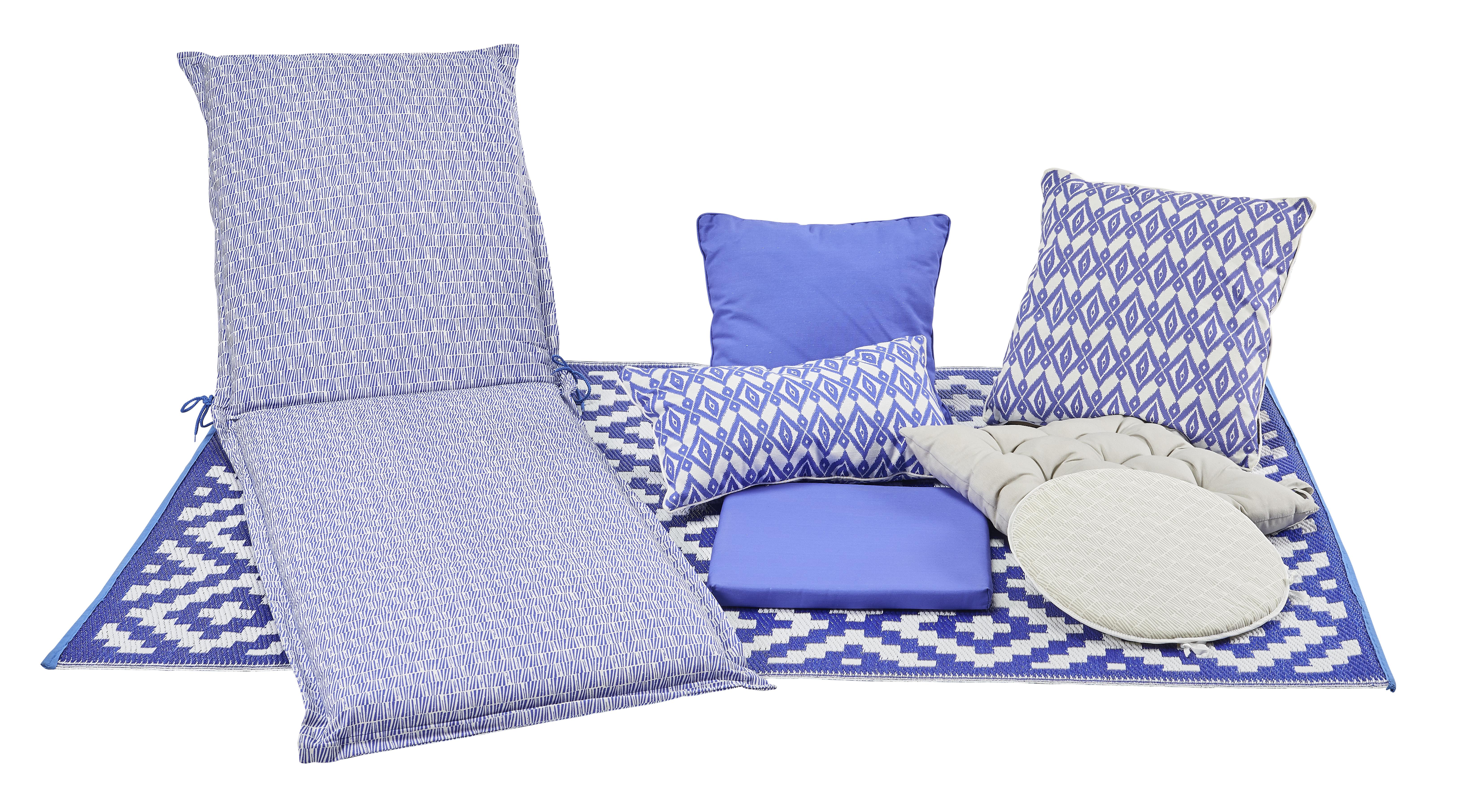 Coussin de fauteuil - Bleu décor Dune