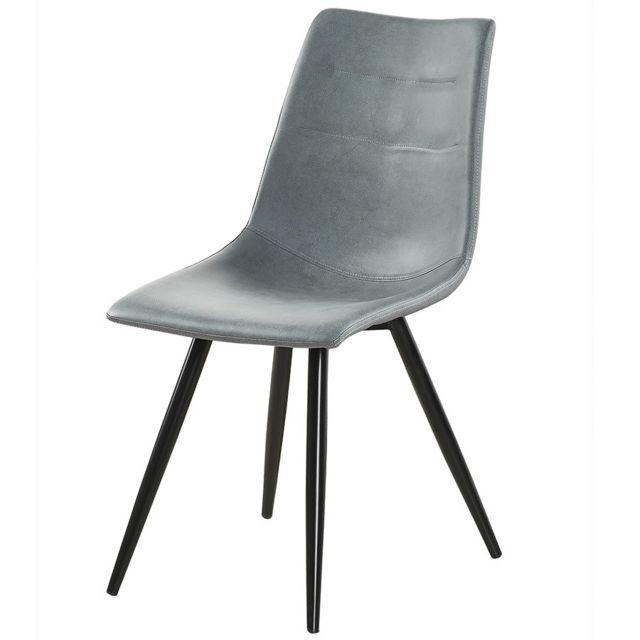 Chaise grise de salle à manger Emric lot de 4