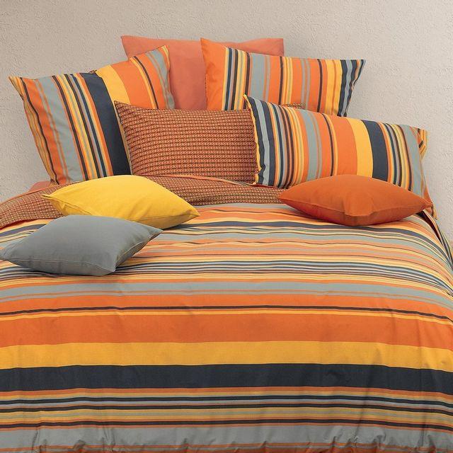 Garnier thiebaut housse de couette scarlet orange 240x220 pas cher achat vente parures de - Housse de couette orange ...