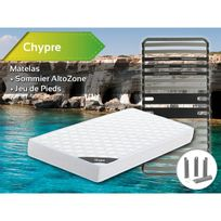 Altobuy - Chypre - Pack Matelas + AltoZone 90x190 + Pieds