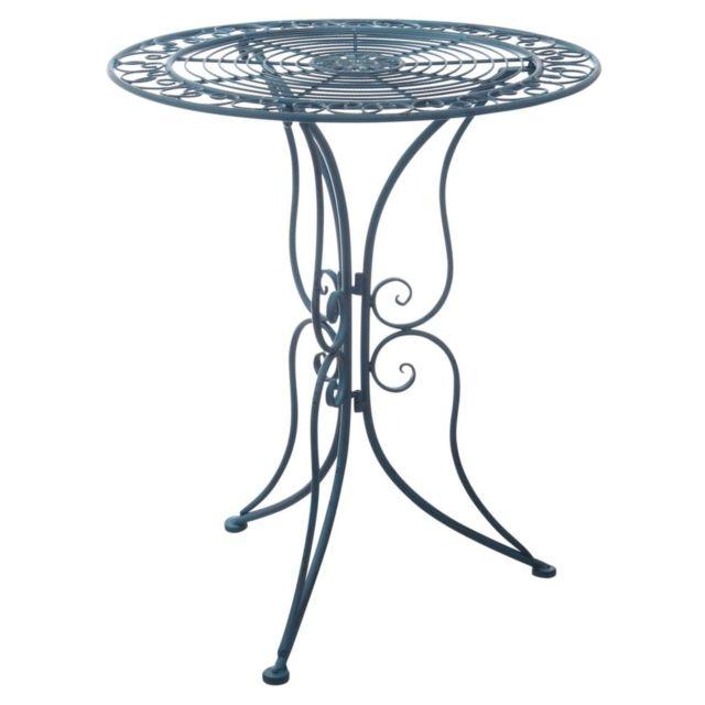 AUBRY GASPARD Table de jardin en métal