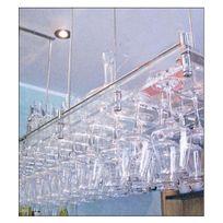 Sobrio - Porte-verre suspendu en plexiglas transparent - 50 verres - Plexiglas transparent Aci-sbr410