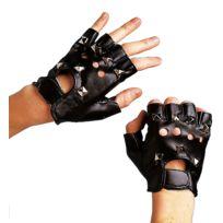Festiveo - Mitaines Punk cuir noir