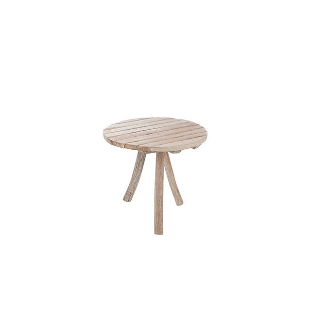 Table ronde 75cm diam en bois naturel