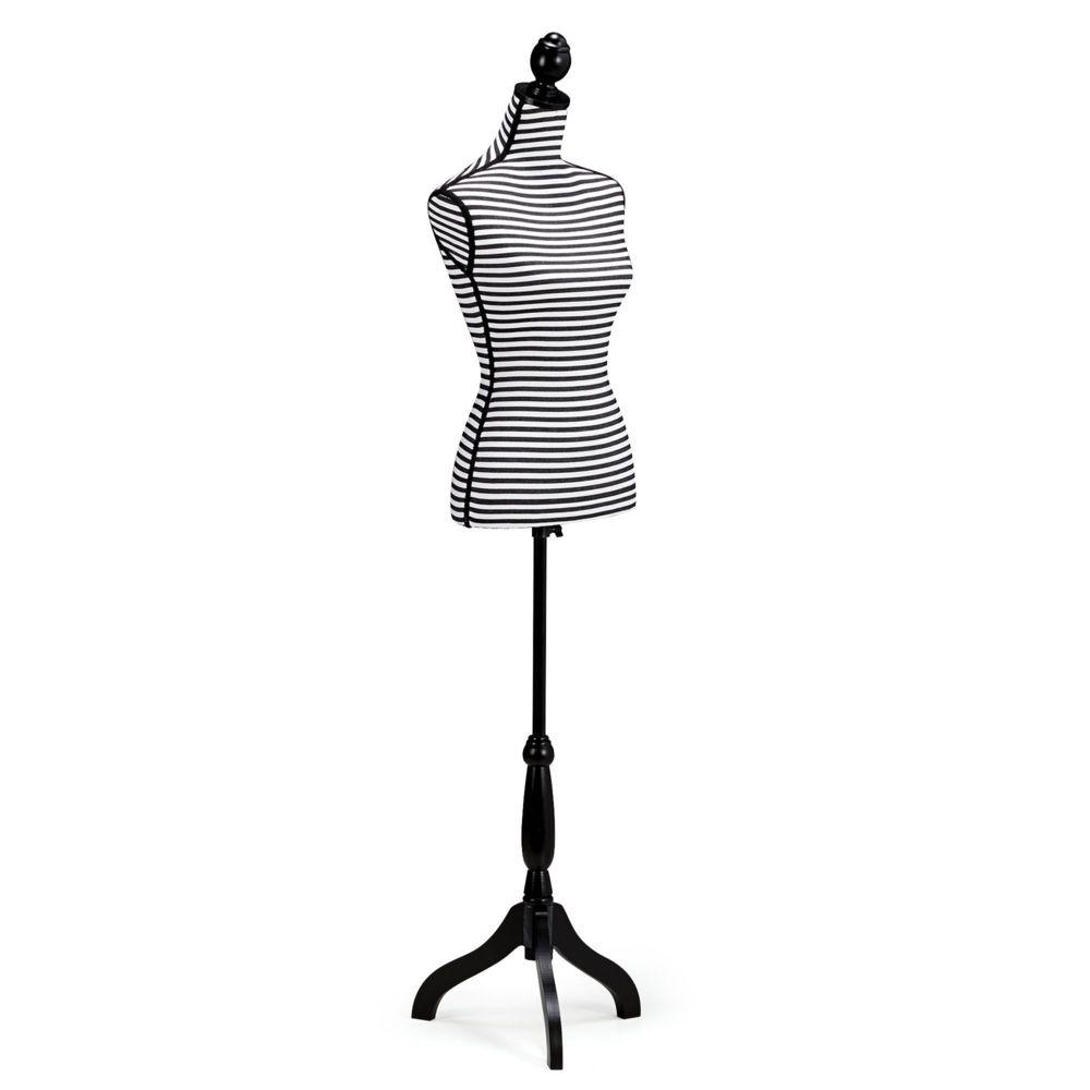 alin a mannequin buste porte v tements ray noir et blanc pas cher achat vente portant. Black Bedroom Furniture Sets. Home Design Ideas
