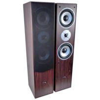 Ltc Audio - Paire d'enceintes Hifi Bass reflex à 3 voies 350W - Noyer Ltc L766-WA