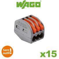Wago - Boite de 15 bornes de connexion automatique 3 entrées S222